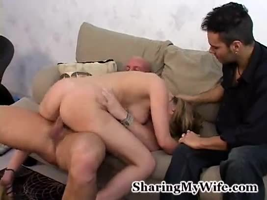 Creampie While Husband Watches